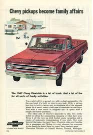 100 Oldride Classic Trucks 1967 Chevrolet Fleetside Advertisement Photo Picture
