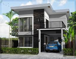 Two Story Modern House Ideas Photo Gallery by Simple 2 Story House Design 7354