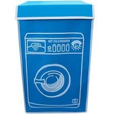 panier a linge bleu panier à linge en couleur design machine à laver bleu achat
