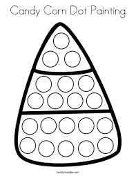 Candy Corn Dot Painting Coloring Page