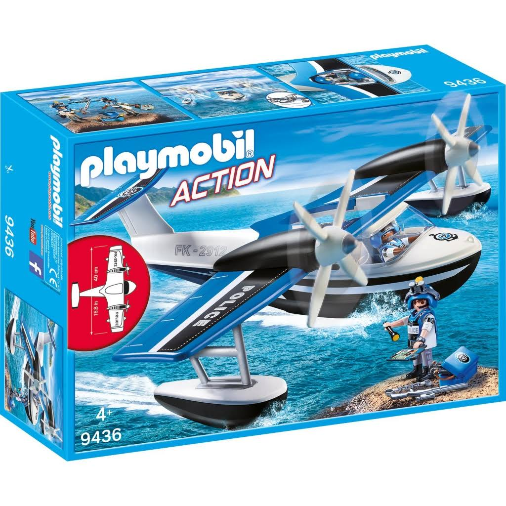 Playmobil 9436 Action Police Water Airplane