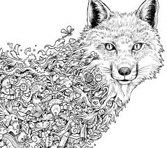 Wolf Coloring Pages For Adults Free Printable Animal Mandala