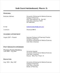 Clinical Pharmacist Curriculum Vitae