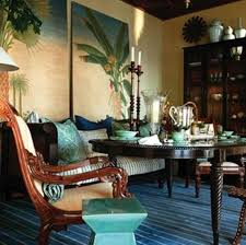 British Colonial House Interior Design With Wall Arts In Home