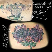 Lower Back Cover Up Tattoo