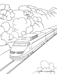 Coloriage ã Imprimer Train Tgv