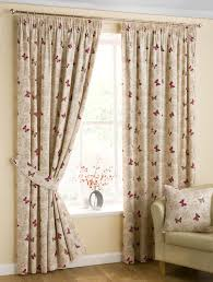 Ebay Curtains With Pelmets Ready Made by Butterfly Ready Made Lined Curtains Red Free Uk Delivery