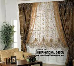 modern blackout curtains with floral patterned shade curtain designs