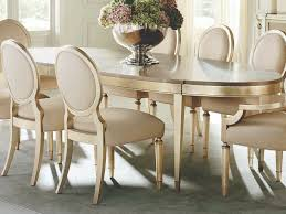 Caracole Classic Smoke / Taupe Silver Leaf 90-138''W X 46''D Oval Dining  Table With Extension Realyn Ding Room Extension Table Ashley Fniture Homestore Gs Classic Oak Oval Pedestal With 21 Belmar New Pine Round Set Leaf 7piece And 6 Chairs Evelyn To Wonderful Piece Drop White Mahogany Heart Shield Back Details About 7pc Oval Dinette Ding Set Table W Extendable American Drew Cherry Grove 45th 7 Traditional 30 Pretty Farmhouse Black Design Ideas Kitchen
