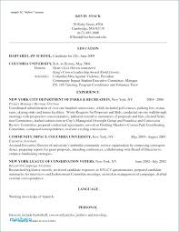Mba Resume Examples Template Beautiful Free Professional Samples