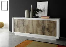 sideboard weiss pero kommode holz braun modern neu woody 12