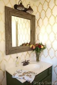 A DIY Stenciled Bathroom Makeover Using The Perfect Catch Stencil