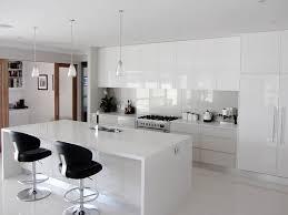 White Gloss Kitchen Design Ideas by Kitchen Appealing L Shape White Kitchen Design Ideas Using Cream