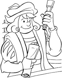 Columbus With All His New Findings Coloring Page