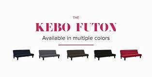 Kebo Futon Sofa Bed Assembly Instructions by Dhp Furniture Kebo Futon Black