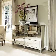 Mirror Bedroom Set Furniture White Wooden Bedside Table Mirrored