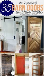 Remodelaholic | 35 DIY Barn Doors + Rolling Door Hardware Ideas White Sliding Barn Door Track John Robinson House Decor How To Epbot Make Your Own For Cheap Knotty Alder Double Sliding Barn Doors Doors The Home Popsugar Diy Youtube Rafterhouse Porter Wood Inside Ideas Best 25 Interior Ideas On Pinterest Reclaimed Gets Things Rolling In Bathroom Http Beauties American Hardwood Information Center Design System Designs Tutorial H20bungalow