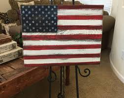 Rustic American Flag Patriotic Stars And Stripes Americana Red White