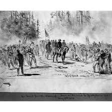 Civil War Wilderness Ngeneral Ulysses S Grant Marching From The To Spotsylvania Court House 9 May 1864 Drawing By A Waud Poster Print Granger