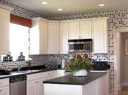 kitchen wall tile designs polka dot in black grey and