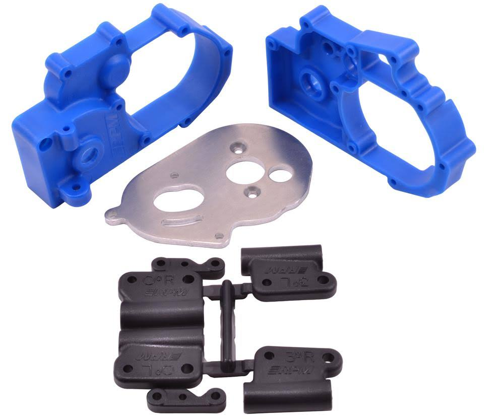 RPM Hybrid Gearbox Traxxas 2WD Electric Housing and Rear Mounts - Blue