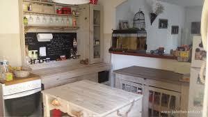 ilot cuisine palette ilot central cuisine avec table 11 comment fabriquer un 238lot