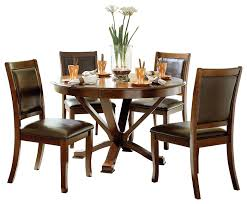 Homelegance Helena 5PC Dining Set Round Dining Table Four Side Chair ... Paris 80 Cm Round Ding Table 4 Chairs In White Whitegrey Bellevue Pub D8044519 Cramco Counter Height Seater Oslo Chair Set Temple Webster Ding Table Chairs Easyhomeworld And Aamerica Port Townsend 5 Pc Oak Glass And With Fabric Seats Amazoncom Coavas 5pcs Brown Kitchen Rectangle Vfuhrerisch Black Wood Red Small Cheap Find 8 Solid Davenport Ivory Dav010