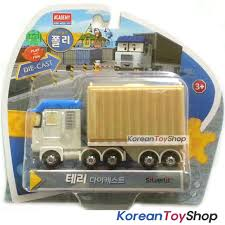 100 Toy Truck And Trailer Robocar Poli TERRY Diecast Metal Figure Car
