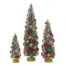 Set Of 3 Bottle Brush Trees Christmas Figure 2223850