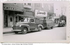 100 Truck Stores Fults And Goodrich IGA Grocery Store Andrews Indiana Ca 1950