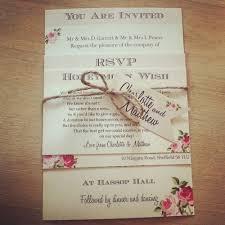 1 Vintage Shabby Chic Style Charlotte Wedding Invitation Stationery Sample