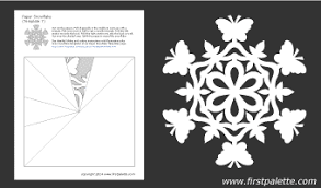 Paper Snowflake Template 7