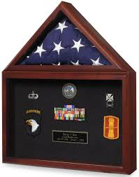 Capitol Flag Certificate Medal Display Case
