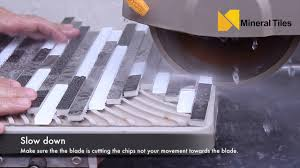 Workforce Tile Saw Thd550 Instruction Manual by Cutting Stainless Steel Tiles With A Wet Saw Youtube