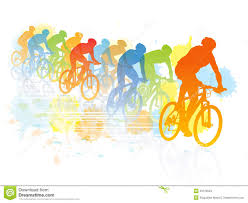 Group Bike Riding Clipart