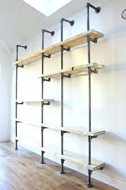 Metal Pipe Bookshelf Pin By Rouse On S Rustic Closet Home Ideas Pipes And