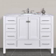 appealing white bathroom vanity with black top country style 27