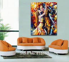 Tango Of Past Years Canvas Wall Paintings Romantic Kiss Oil Paint Printed On Bedroom Decor In Painting Calligraphy From Home Garden