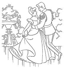 Cinderella Prince Charming And Dance In Coloring Page