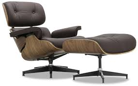 Designer Replica Eames Lounge Chair -Dark Brown Leather   Furniture ... Eames Lounge Chair Black Ottoman Lounge Chair Replica Modterior Usa White Edition New In More Just Design 100 Leather High Quality Style And Black Palisander Herman Miller Designer Fniture Eames Style Storage Unit Walnut Cheap Excellent Vitra Collector Chicicat Alinum Group With