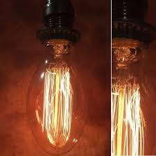 fashioned industrial light bulb set of 3 vintage light