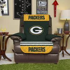 Boscovs Leather Sofas by Amazon Com Nfl Green Bay Packers Recliner Reversible Furniture