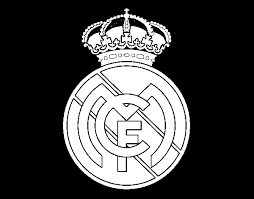 Real Madrid CF Crest Coloring Page