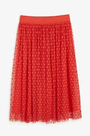 polka dot lace skirt orange reddish dark monki