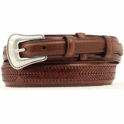 Nocona Top Hand Brown Western Ranger Belt