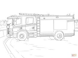 Download Coloring Pages Firetruck Page Fire Truck Free Printable Picture