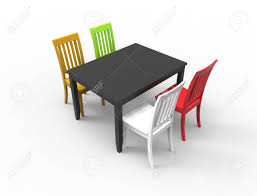 3D Rendering Of A Dinner Table With 4 Colored Chairs Lexington 5piece Ding Set With Round Table And 4 Mission Back Chairs How To Refinish A Room Hgtv Vonhaus Rustic Modern Industrial Design Seater Wooden Effect Dinner 5 Piece Fniture Dinner Table Chairs In Good Cdition Price Ruced Forever Rectangle Shape Chair 1 Green Marble Ebay Sponsored Us Home Bedroom Living Room Kids Gaming Wood Centerpieces And Ideas Dimeions Tables Plastic Gumtree Inch Why Small Ding Is Premium Choice Blogbeen Contemporary Co 101681