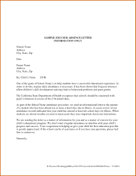 Letter Absence To Work Copy 9 School Excuse Letter For Vacation