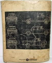 1967 Dodge Trucks Shop Service Repair Manual Models 100-800 Conv 4x4 FC