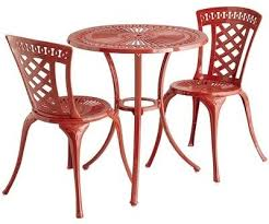 Mainstays Patio Set Red by Fancy Red Bistro Table Mainstays 3 Piece Small Space Scroll